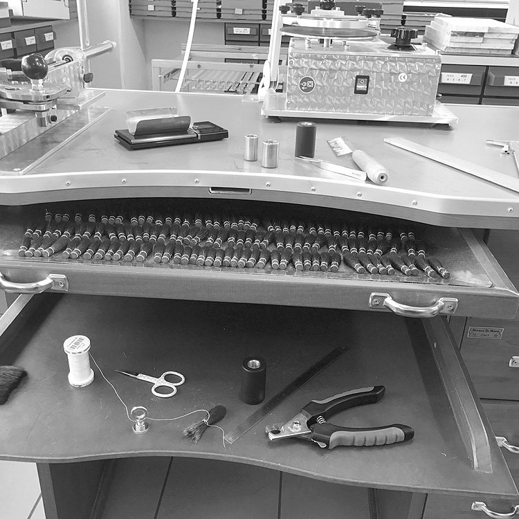 empresa de fabricación de pinceles artesanales made in italy